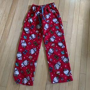 Hello Kitty Christmas Pajama Pants Junior Small